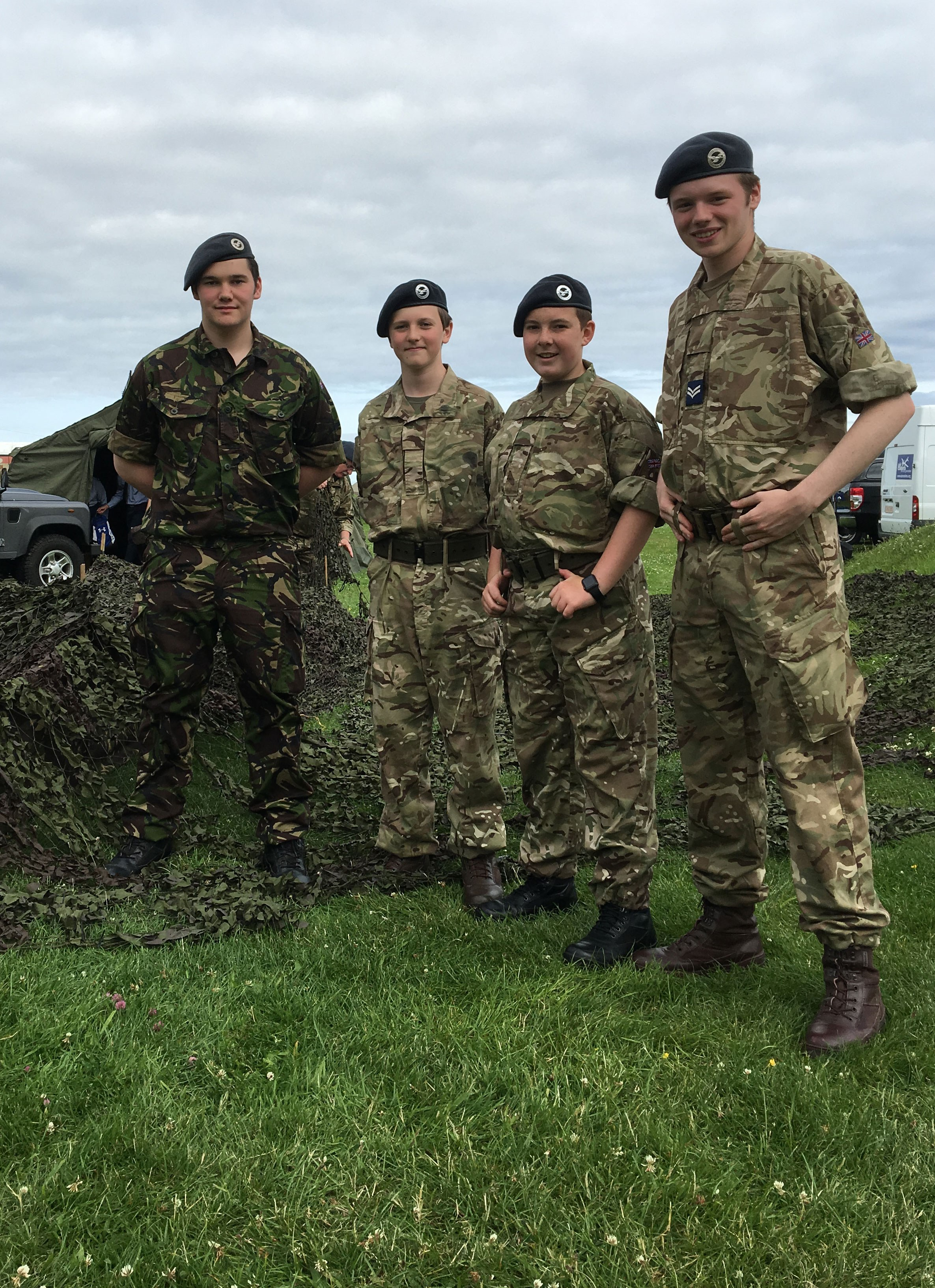 Royal Air Force cadets at Scotland's National Airshow 2016.