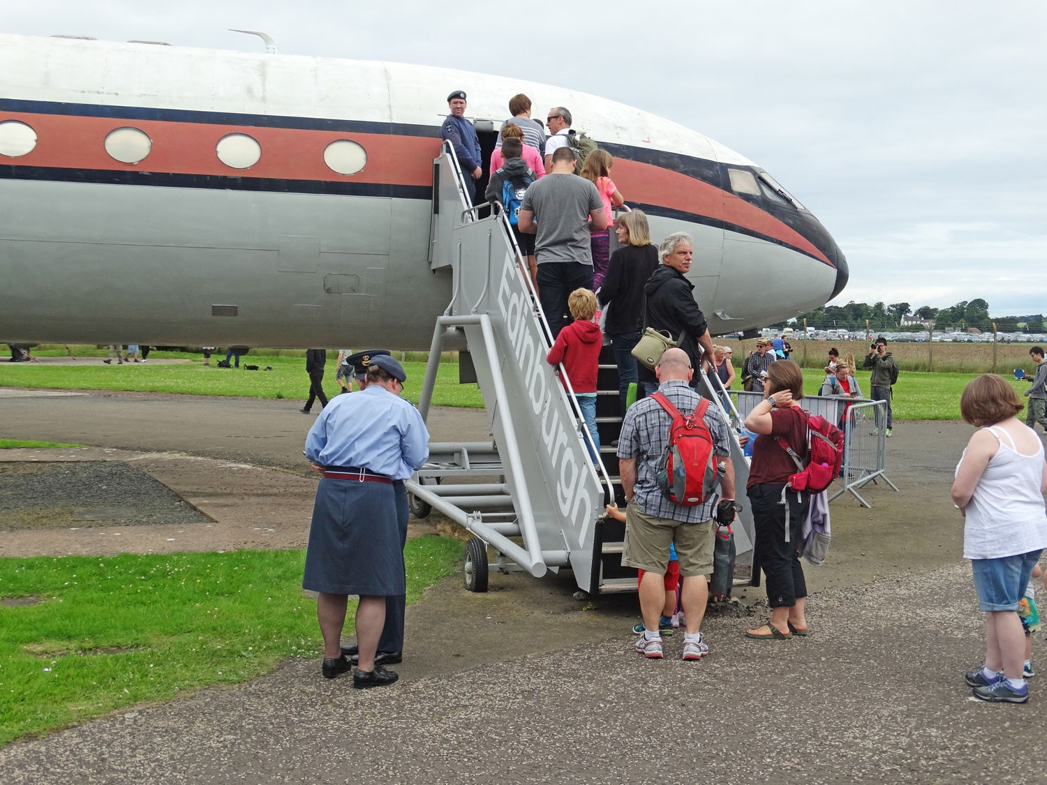 Boarding the East Fortune Airway's Comet 4c at Scotland's National Airshow 2016.