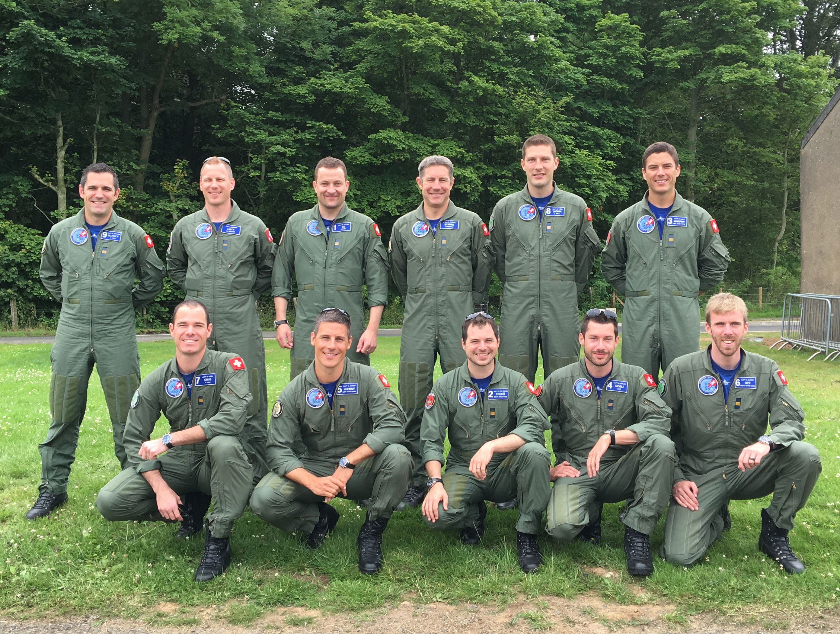 The Swiss Air Force PC-7 TEAM 2016 on the ground at Scotland's National Airshow. #AirshowScot