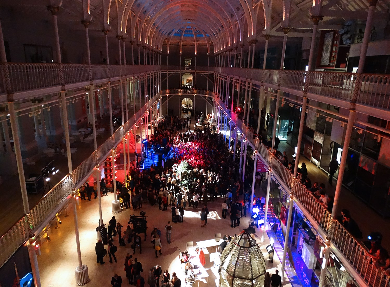 See the Grand Gallery at the museum transformed by music and dance