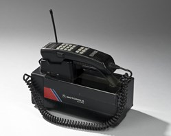 an early Motorola portable phone with base unit