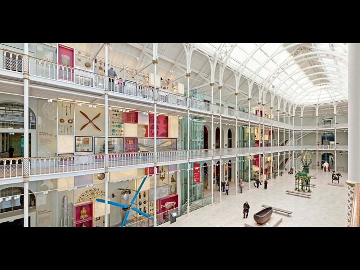 The Grand Gallery in the National Museum of Scotland.