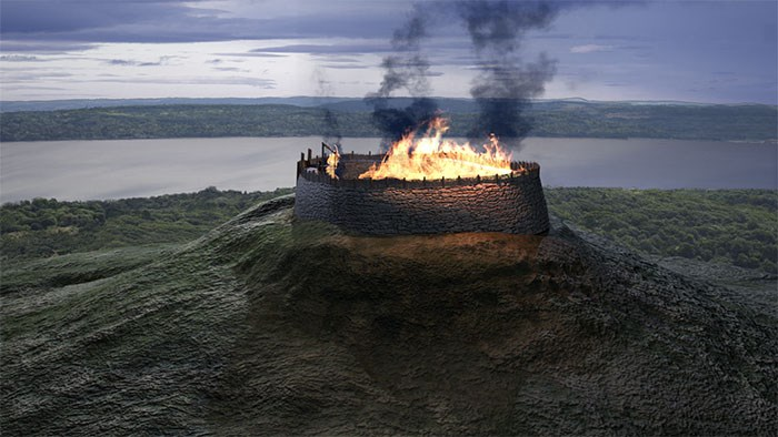 3D visualisation of the Dundee Law