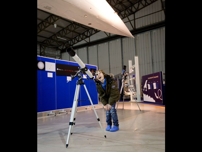 Modern telescope demonstrations  © Ruth Armstrong Photography.