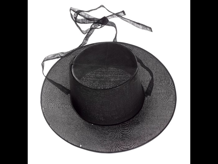 Gentleman's brimmed hat, or heukrip, made of horsehair, cane and black lacquer: Korea, 1870–1880.