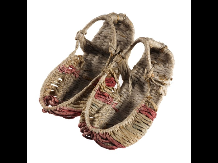 Pair of child's twine shoes: Korea, 1890-1905.