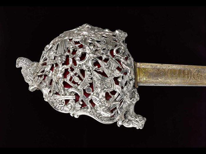 Backsword presented to Bonnie Prince Charlie by James, 3rd Duke of Perth, c.1740.