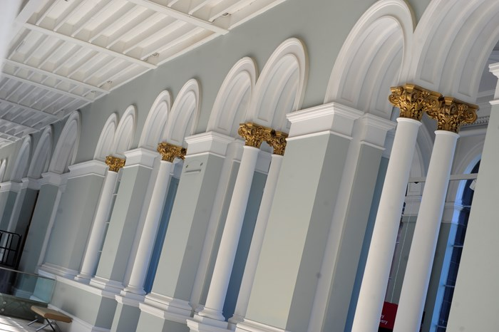 Victorian archways in the Grand Gallery