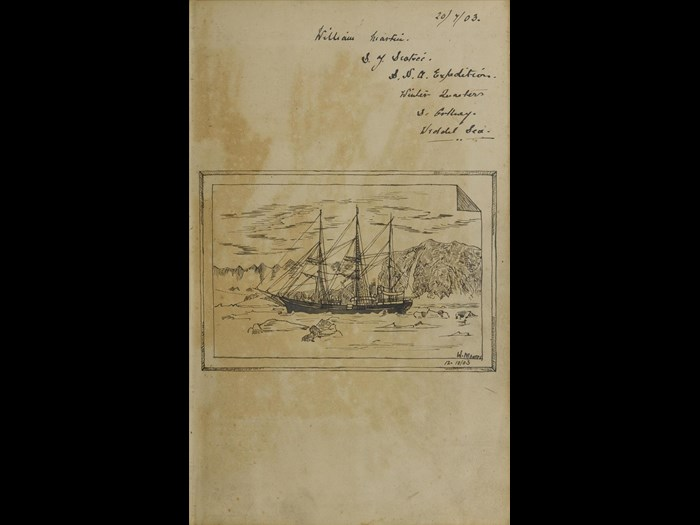 Sketchbook of William Martin, Scottish National Antarctic Expedition 1903.