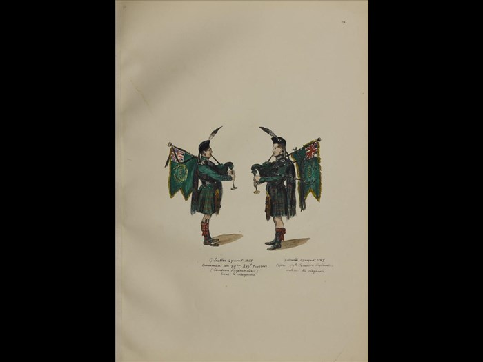 79th Cameron Highlanders from Sketches and studies of the 92nd 72nd and 79th Highlanders.