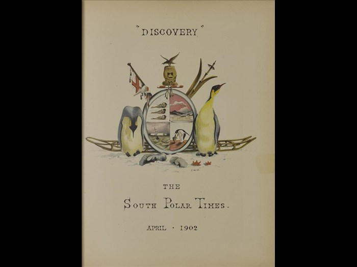 """Discovery"" April 1902 from The South Polar Times."