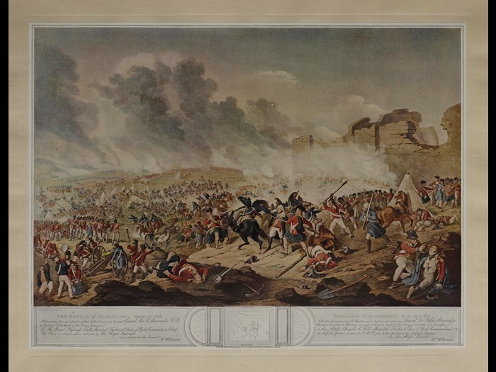 The Battle of Alexandria, 21 March 1801, from Prints of British military operations 1066-1868.