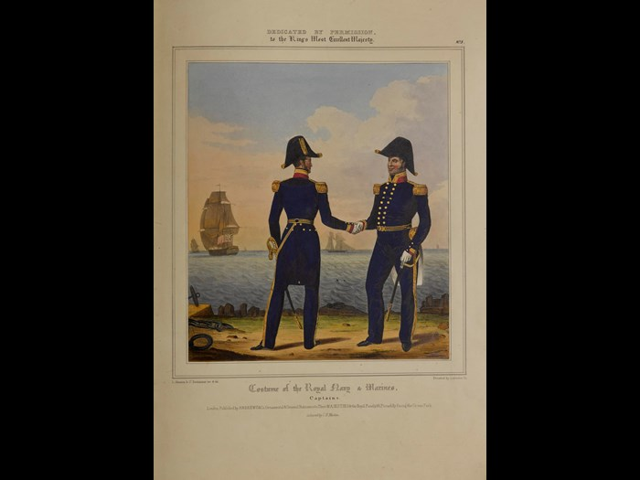 Captains from Costume of the Royal Navy and Marines, 1833.