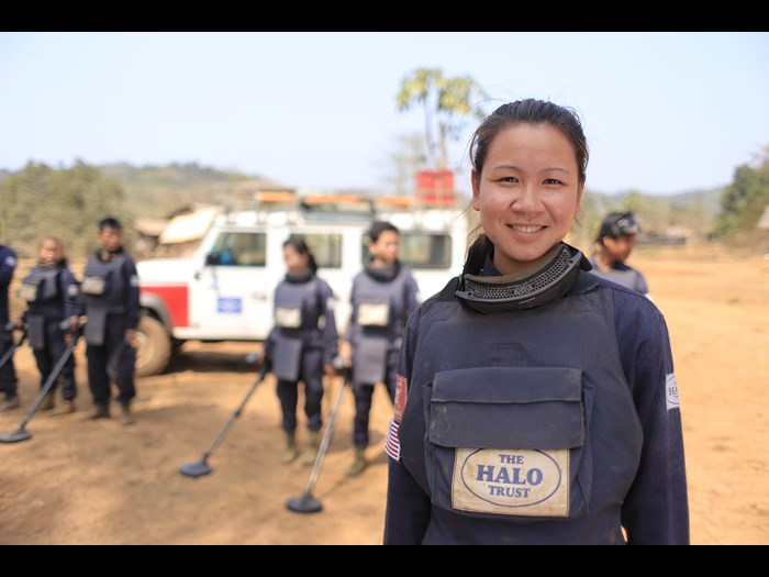 A specially trained female deminer in Laos © The HALO Trust