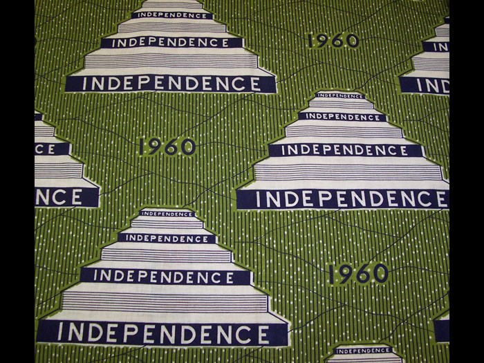 Cotton cloth printed to commemorate Nigerian Independence: Africa, West Africa, Nigeria, 1960.