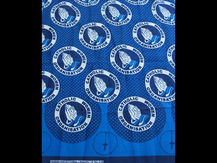 Cotton cloth commissioned by the Catholic Women Organisation in Malawi: Africa, Southern Africa, Malawi, 2014.