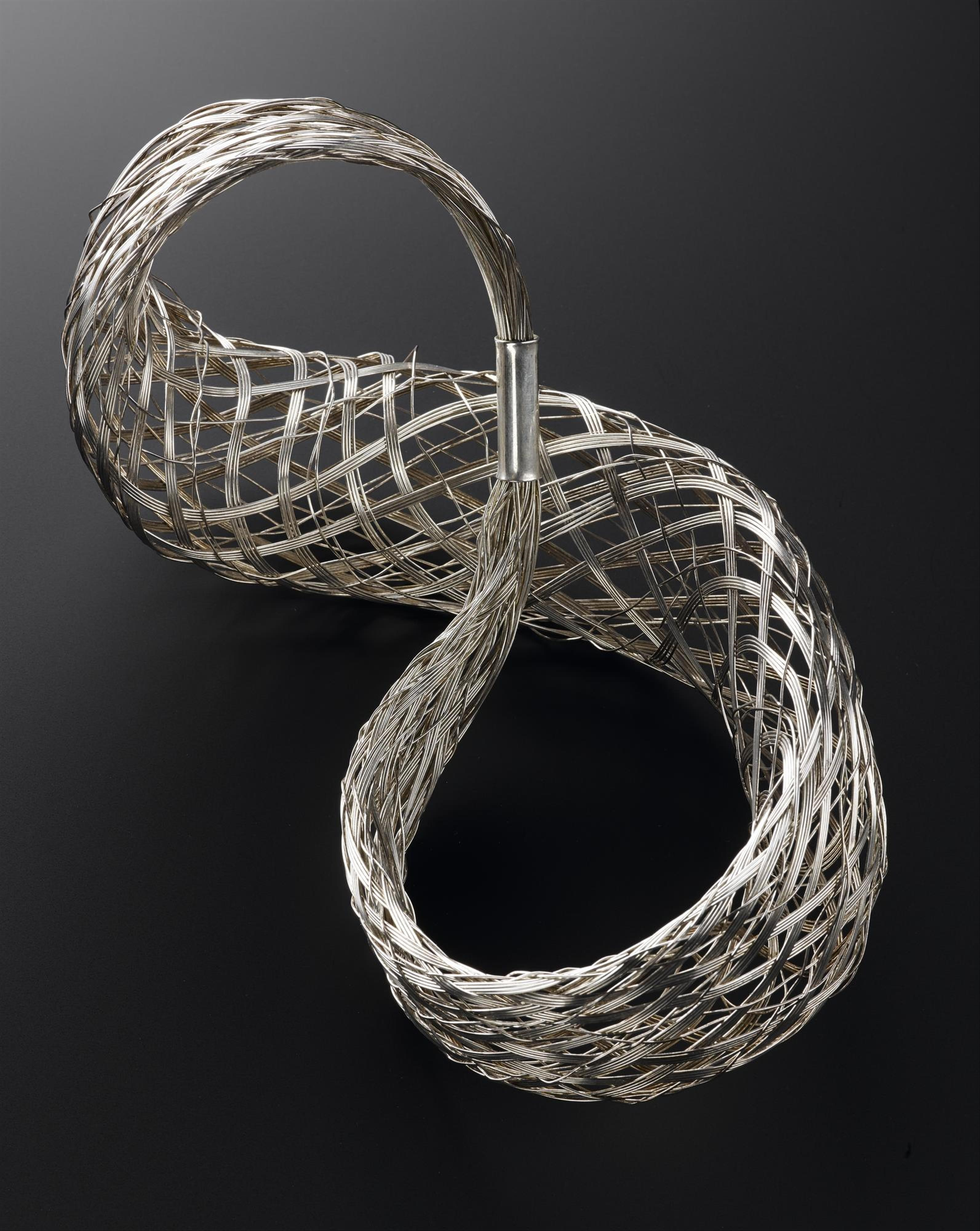 Bracelet of silver wirework: British, designed for Jean Muir by Iain Young and Rachel Leach, Australian Bicentennial Collection, 1988.