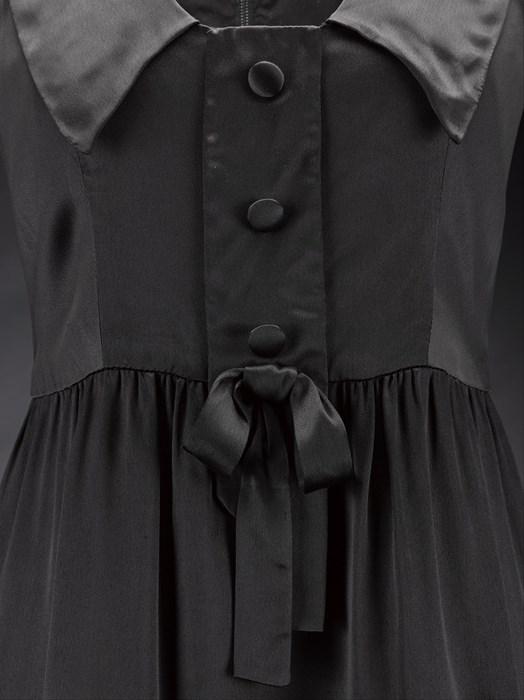 9601ff90f3 Black satin mini dress