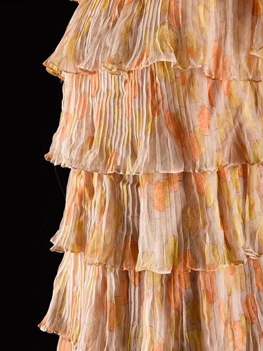Pleated silk chiffon, 1962-66.