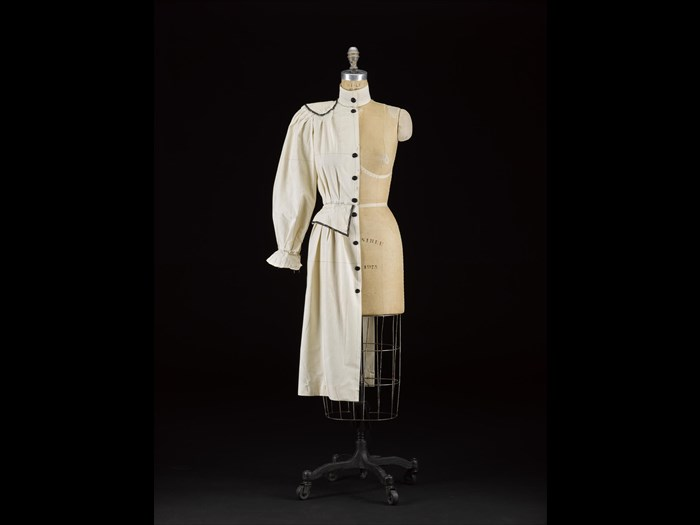 Dressmaker's stand of cotton calico, originally used by Jean Muir: American, by Wolf, New York, USA, 1975.