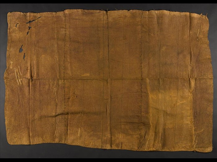 Length of barkcloth: Africa, Southern Africa, Zambia, early 20th century.