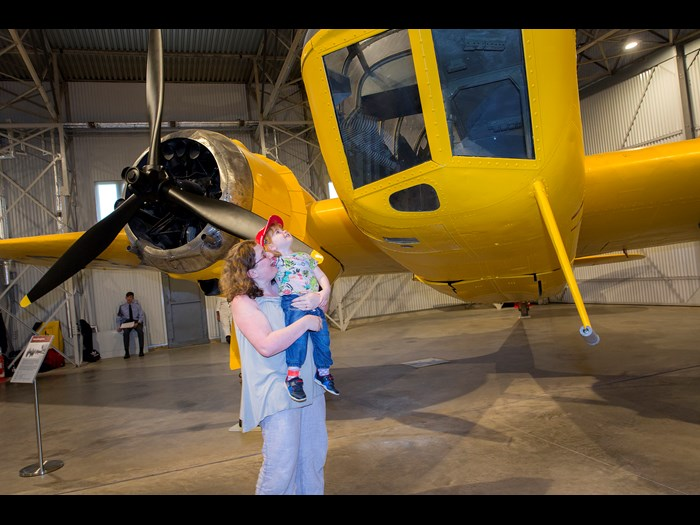 Viewing the military aviation collection at National Museum of Flight © Ruth Armstrong Photography.