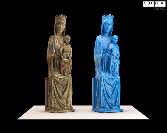 3D digital model of the Madonna and child