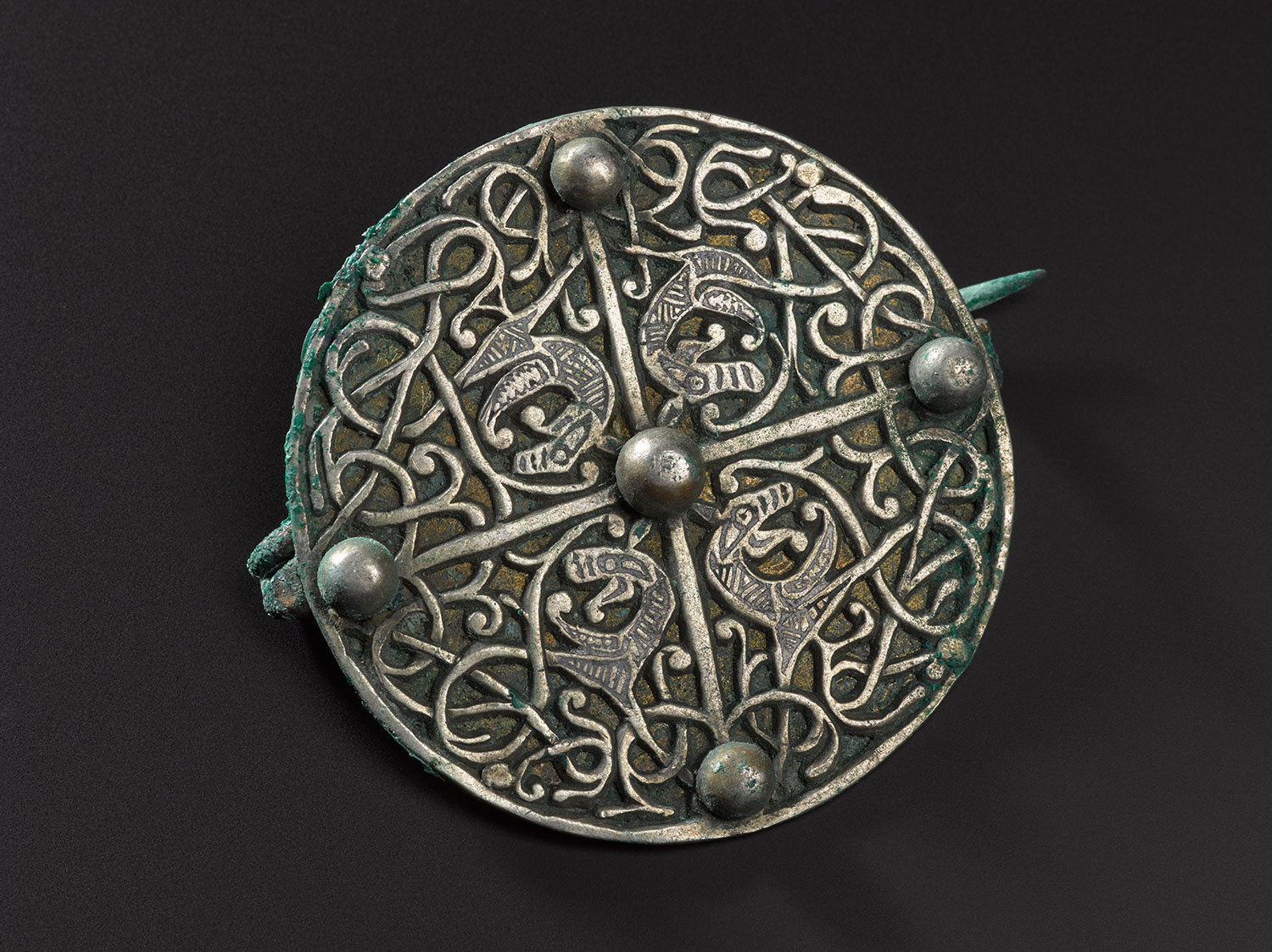 Anglo-Saxon disc brooch.