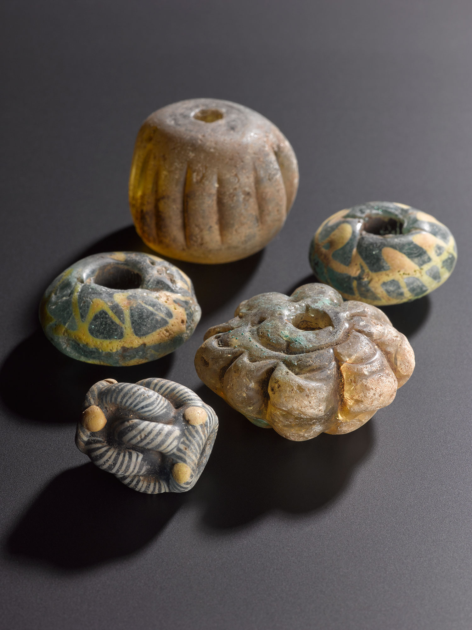 Beads like these are fairly common, but it is unusual to find beads in a Viking-age hoard.