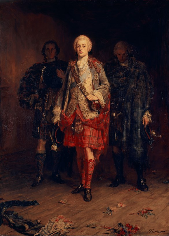 Bonnie Prince Charlie Entering the Ballroom at Holyroodhouse, before 30 Apr 1892. Royal Collection Trust / © Her Majesty Queen Elizabeth II 2017.