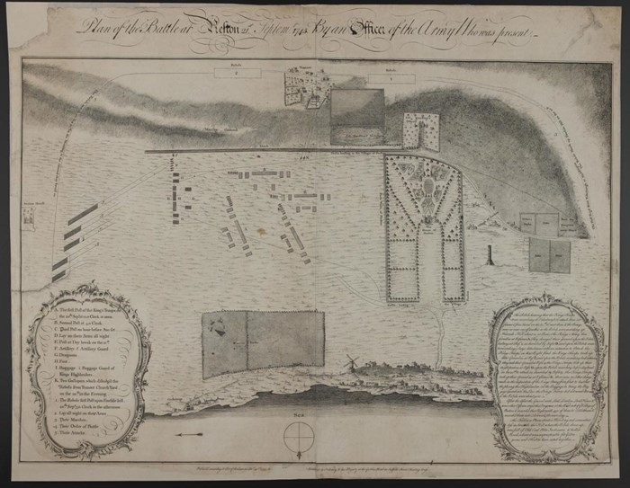 Plan of the Battle at Prestonpans, by an Officer of the Army who was present.