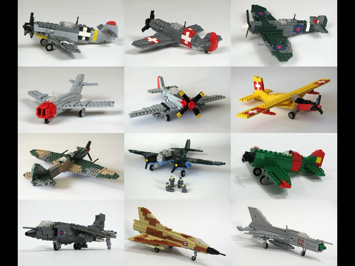Selection of LEGO® aircraft models made by Peter Dornbach © Dornbi on Flickr https://www.flickr.com/photos/dornbach/11653632276