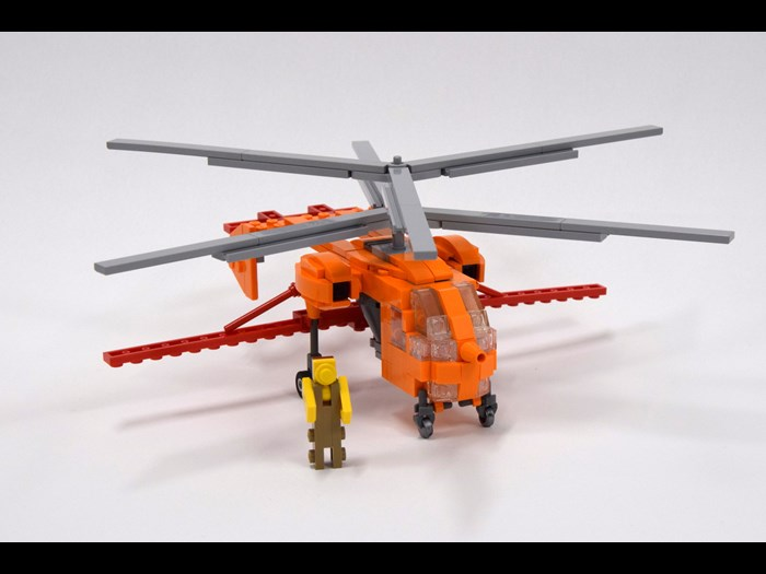 Kamov Kz-26 helicopter LEGO® aircraft model by Peter Dornbach © Dornbi on Flickr https://www.flickr.com/photos/dornbach/17356967714
