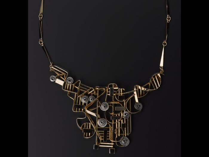 18ct gold and white gold necklace by Claës Giertta, Sweden, 1966 © Claës Giertta