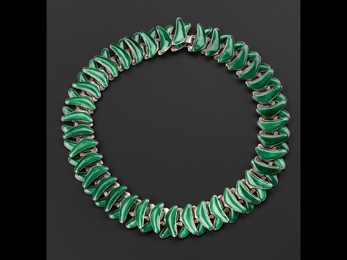 Articulated necklace designed by Grete Prytz Kittelsen in 1952, for J Tolstrup, Norway. © Grete Prytz Kittelsen