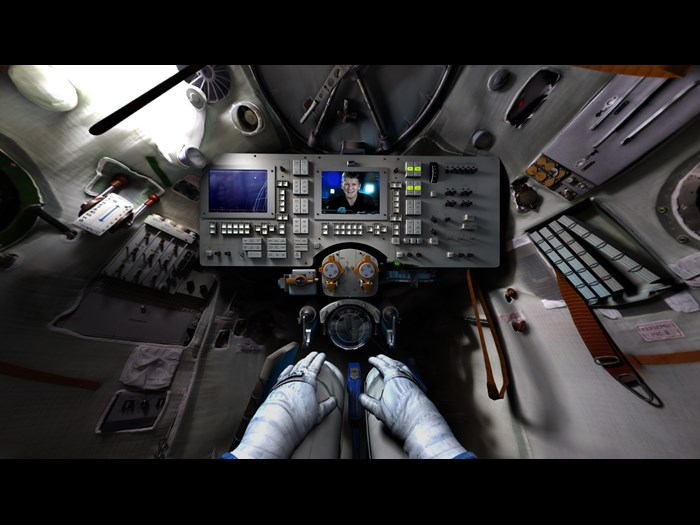 View from Space Descent VR with Tim Peake © Science Museum