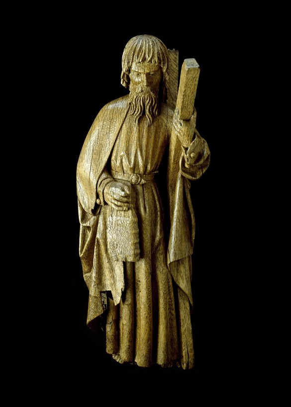 Oak figure of St Andrew
