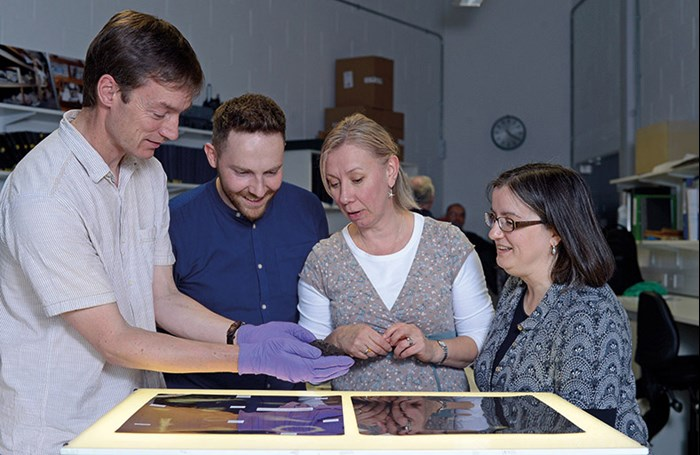 A workshop giving an introduction to Iron Age and Roman archaeology at the National Museums Collection Centre as part of the National Training Programme.
