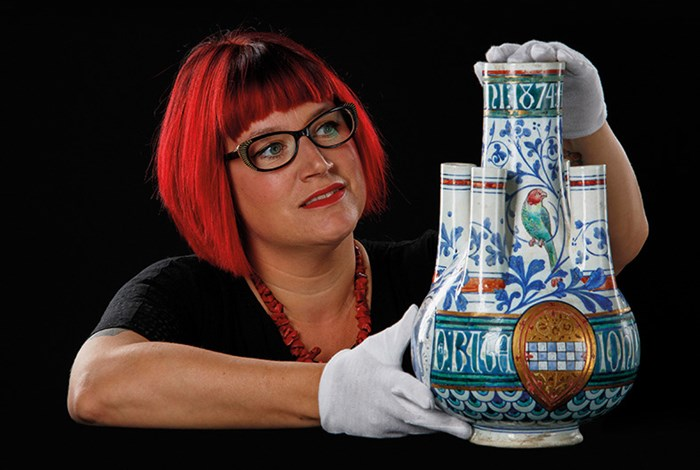 Principal Curator of Modern and Contemporary Design, Dr Sally-Anne Huxtable presents the Burges vase.