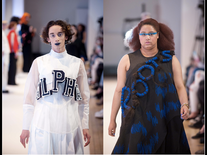 Designs by Edinburgh College of Art Fashion Students Aurelie Fontan and Kate McMahon