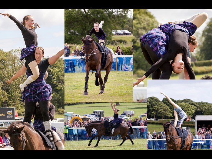 Day 9: Nine ladies leaping at the Heavy Horse Show © Ruth Armstrong Photography