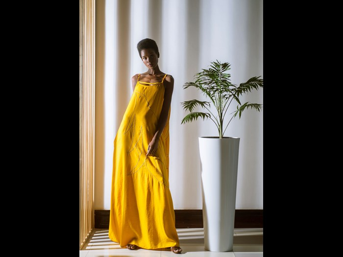 Rwandan design brand Haute Baso, is an ethical fashion brand and a social enterprise that centers on investing in local talent. Image © Haute Baso