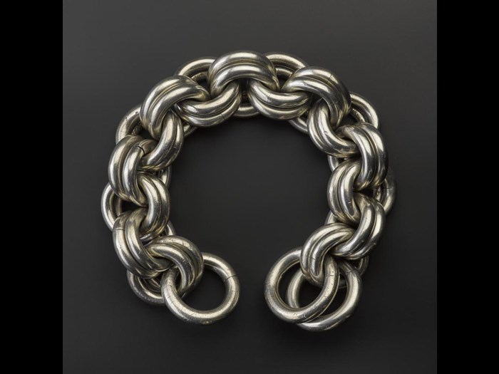 Massive silver chain found in digging the Caledonian Canal at Torvean, near Inverness, 300-500 AD.