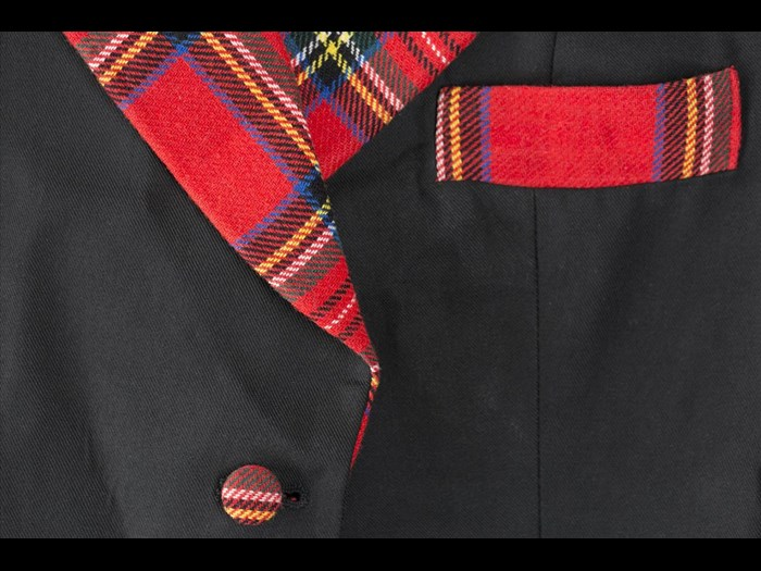 Detail of coat belonging to the Bay City Rollers.