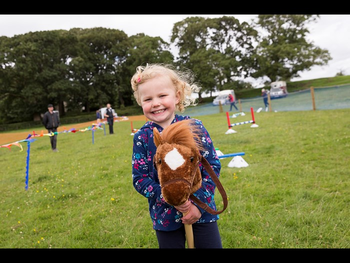 Giddy up in our children's hobby horse arena © Ruth Armstrong Photography