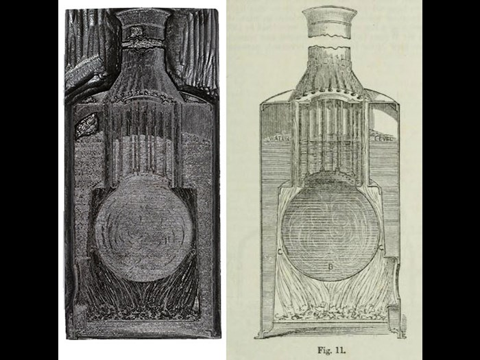 Thomson Boiler, from First Edition, volume 9, page 105, 1867.