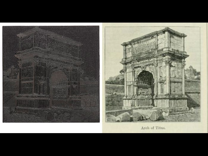 Arch of Titus, from Second Edition, volume 1, page 381, 1888.