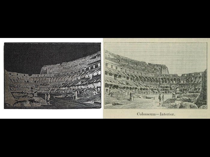 Colosseum-Interior, from Second Edition, volume 1, page 238, 1888.