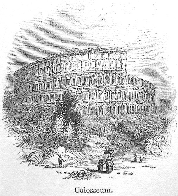 Colosseum, from First Edition, volume 1, page 214, 1860.