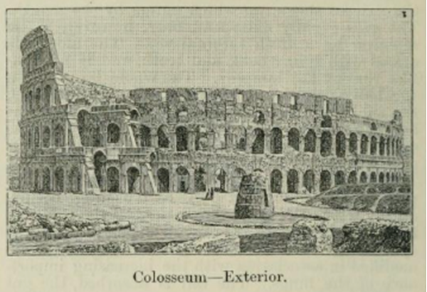 Colosseum-Exterior, from Second Edition, volumne 1, page 238, 1888.